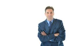 Uomo di affari con le braccia piegate Fotografie Stock