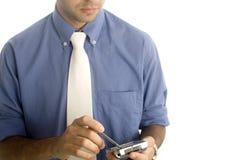 Uomo di affari con PDA immagine stock libera da diritti
