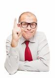 Uomo di affari con un'idea Immagini Stock Libere da Diritti
