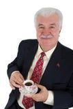 Uomo di affari del bevitore del caffè turco Fotografia Stock Libera da Diritti