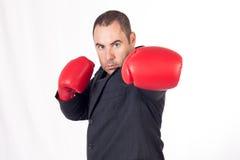 Uomo di affari del combattente Immagine Stock Libera da Diritti