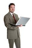 Uomo di affari del computer portatile immagini stock libere da diritti