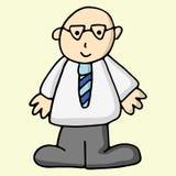 Uomo di affari del fumetto Fotografie Stock