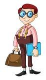 Uomo di affari del nerd Fotografie Stock