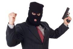 Uomo di affari del terrorista Fotografia Stock