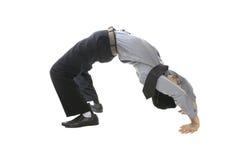 Uomo di affari dell'acrobata Fotografia Stock Libera da Diritti