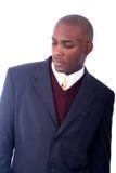 Uomo di affari dell'afroamericano Immagini Stock Libere da Diritti