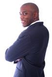 Uomo di affari dell'afroamericano Fotografie Stock Libere da Diritti