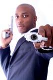 Uomo di affari dell'afroamericano Immagine Stock