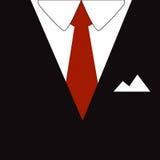 Uomo di affari della cravatta e del vestito immagine stock libera da diritti