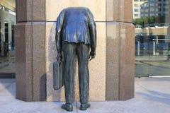 Uomo di affari della statua Fotografia Stock