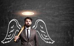 Uomo di affari di angelo fotografia stock libera da diritti