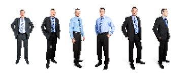 Uomo di affari di arte del pixel Fotografie Stock