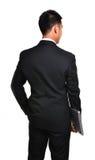 Uomo di affari di preoccupazione isolato Immagini Stock
