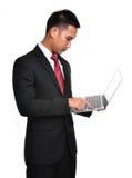 Uomo di affari di preoccupazione isolato Fotografia Stock