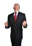 Uomo di affari di preoccupazione isolato Immagine Stock