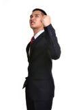 Uomo di affari di preoccupazione isolato Fotografia Stock Libera da Diritti