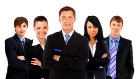 Uomo di affari e la sua squadra isolati Immagini Stock