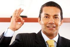 Uomo di affari - giusto Fotografie Stock