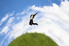 Uomo di affari globali di successo Fotografia Stock