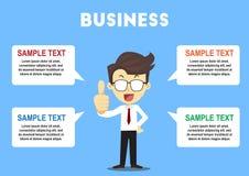 Uomo di affari infographic fotografie stock libere da diritti