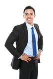 Uomo di affari isolato su fondo bianco fotografia stock