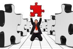 Uomo di affari - la giusta soluzione - il nero Fotografie Stock
