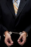 Uomo di affari in manette Immagine Stock Libera da Diritti