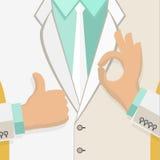 Uomo di affari nel bianco Immagini Stock