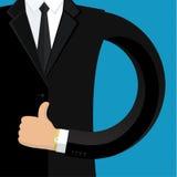 Uomo di affari nel nero Immagini Stock Libere da Diritti