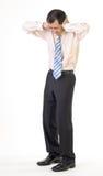 Uomo di affari nell'ambito dello sforzo Fotografie Stock