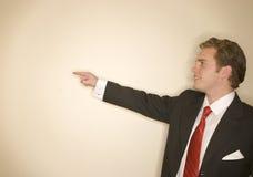 Uomo di affari nella posa 12 di potenza Fotografia Stock