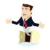 Uomo di affari schioccando fuori 5 Immagine Stock