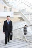 Uomo di affari sul lavoro Fotografia Stock
