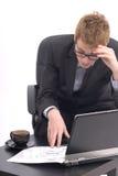 Uomo di affari sul lavoro immagine stock