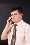 Uomo di affari sul telefono immagini stock libere da diritti