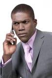 Uomo di affari sul telefono Fotografie Stock Libere da Diritti