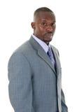 Uomo di affari in vestito grigio fotografie stock libere da diritti