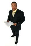 Uomo di affari in vestito nero Fotografia Stock Libera da Diritti