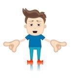 Uomo di Ben Boy Cartoon Character Toon Fotografia Stock Libera da Diritti