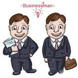 Uomo di Busimess con soldi Illustrazione di Stock
