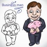 Uomo di Busimess con soldi Illustrazione Vettoriale