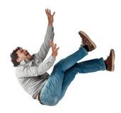 Uomo di caduta Immagine Stock