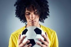 Uomo di calcio del Brasile Immagine Stock