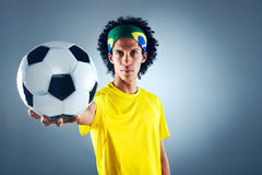 Uomo di calcio del Brasile Fotografie Stock Libere da Diritti