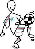 Uomo di calcio di gioco del calcio Immagini Stock Libere da Diritti