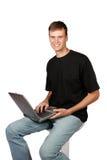 Uomo di calcolatore Fotografia Stock Libera da Diritti