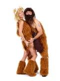 Uomo di caverna e donna della caverna Fotografie Stock