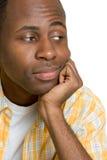 Uomo di colore annoiato Fotografie Stock