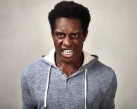Uomo di colore arrabbiato immagine stock libera da diritti